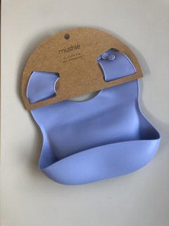 Silicone Baby Bib (Powder Blue)