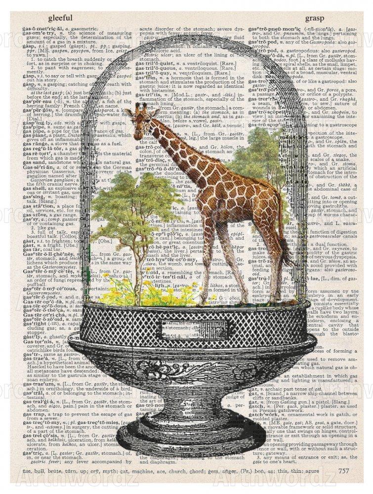 Giraffe Under Glass