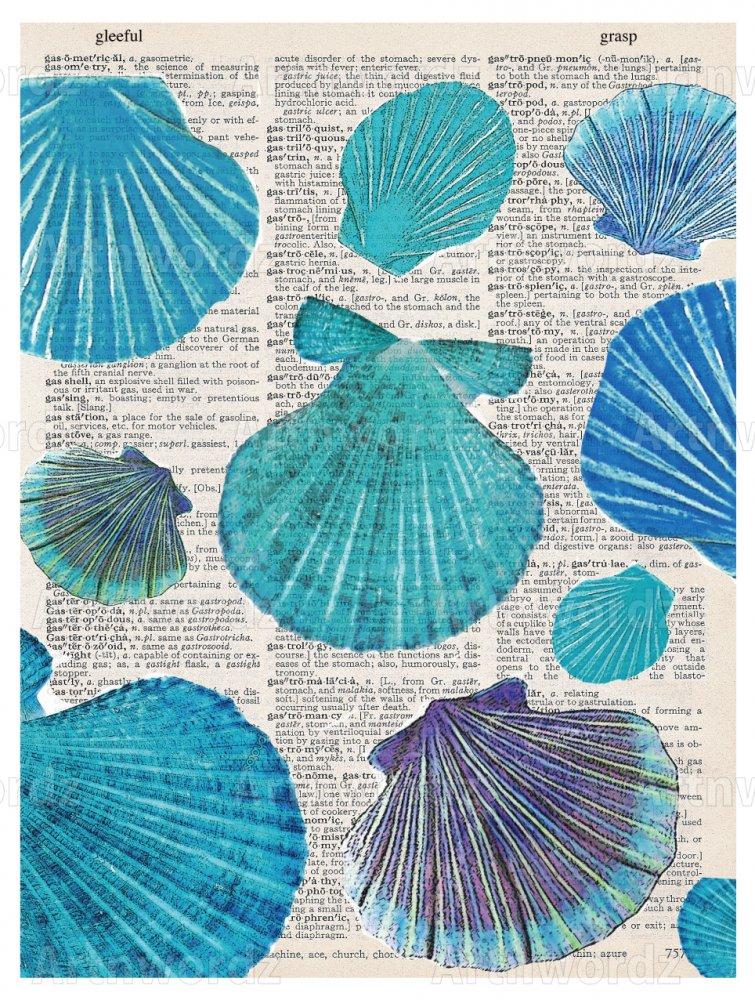 Sea Shells Blue