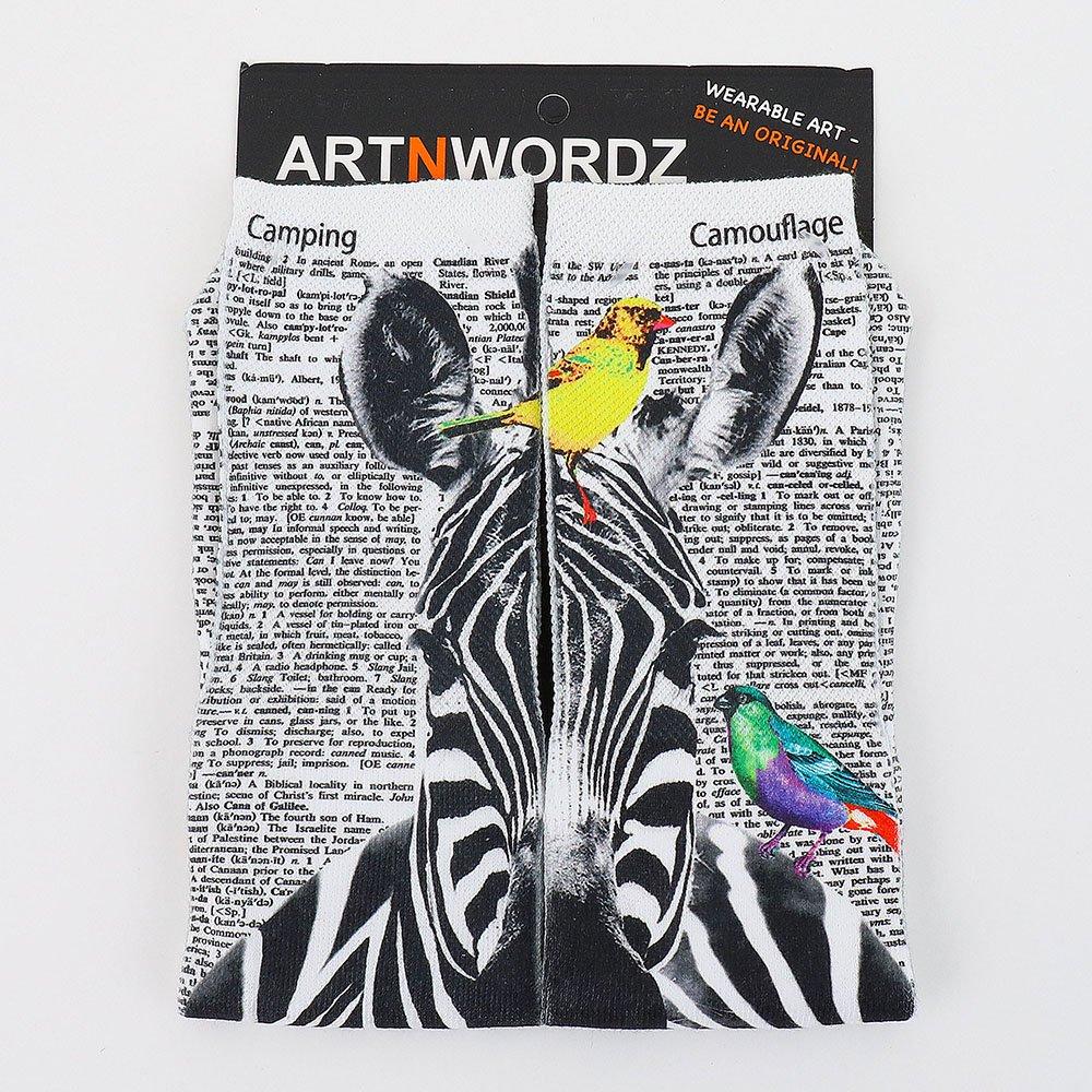 ソックス (Zebra B/W)
