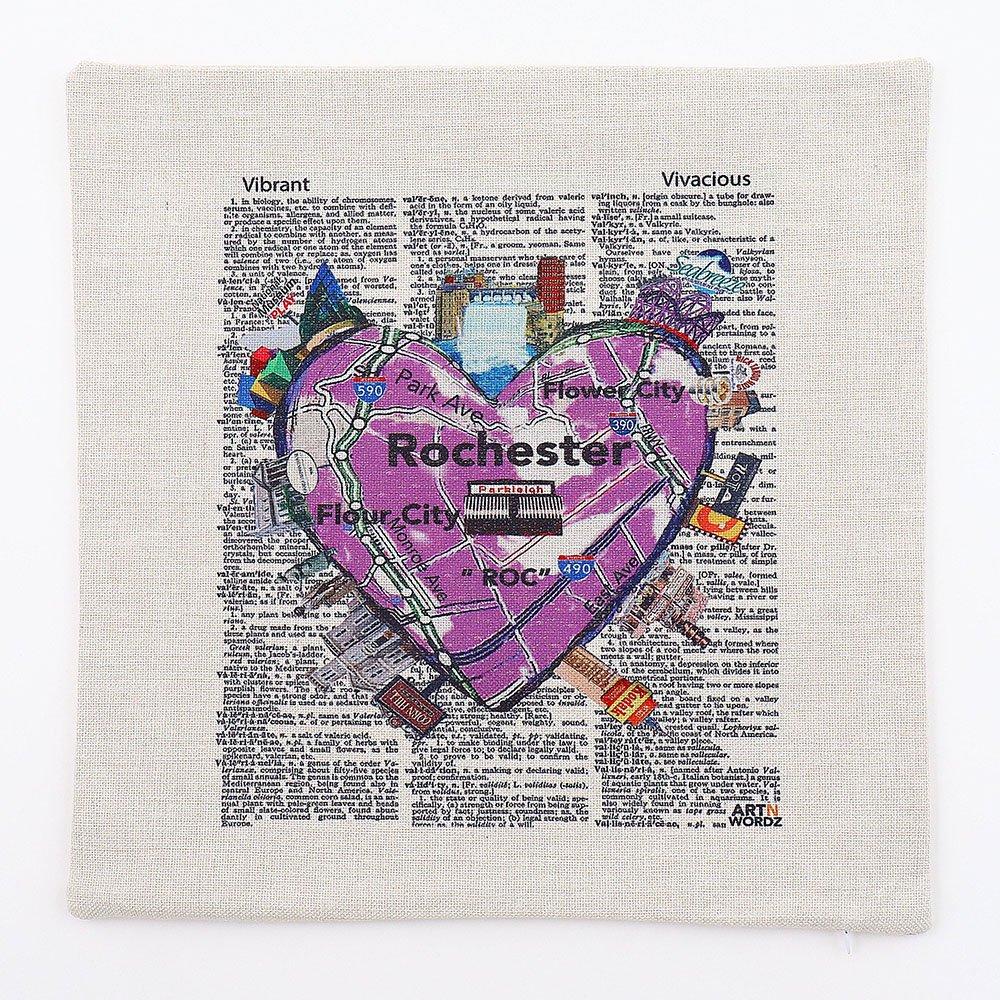 ピローカバー(Rochster Heart)