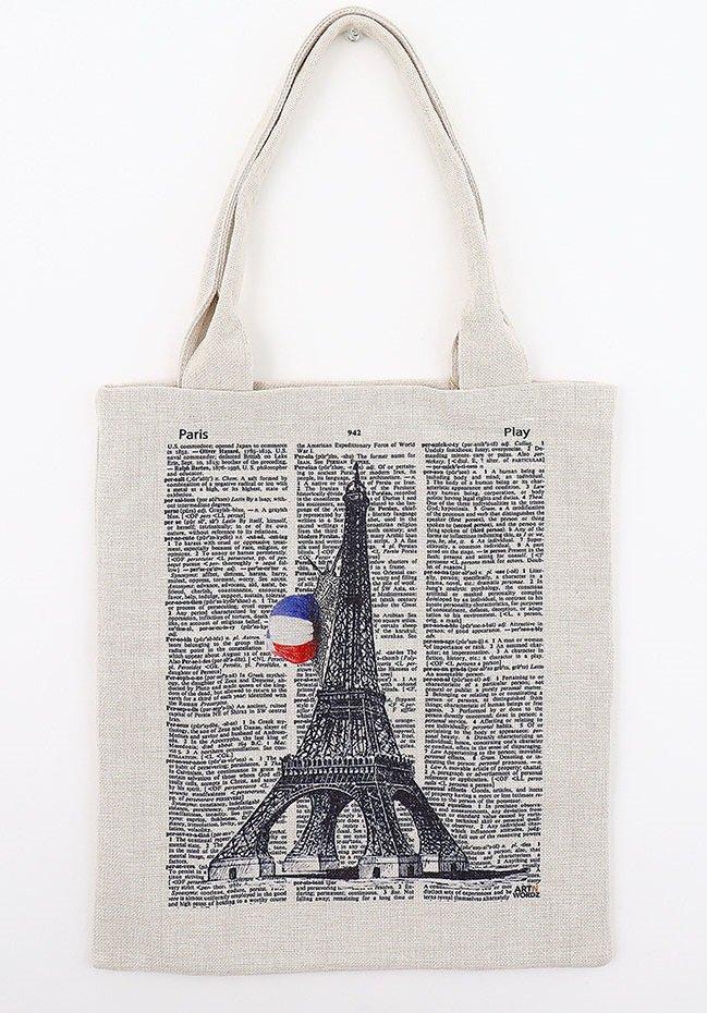 トートバックL(Eiffel Snail Paper)
