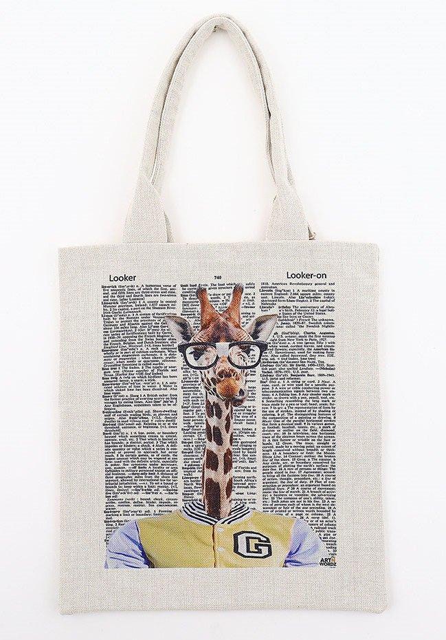 トートバックL(Bertram Male Giraffe)