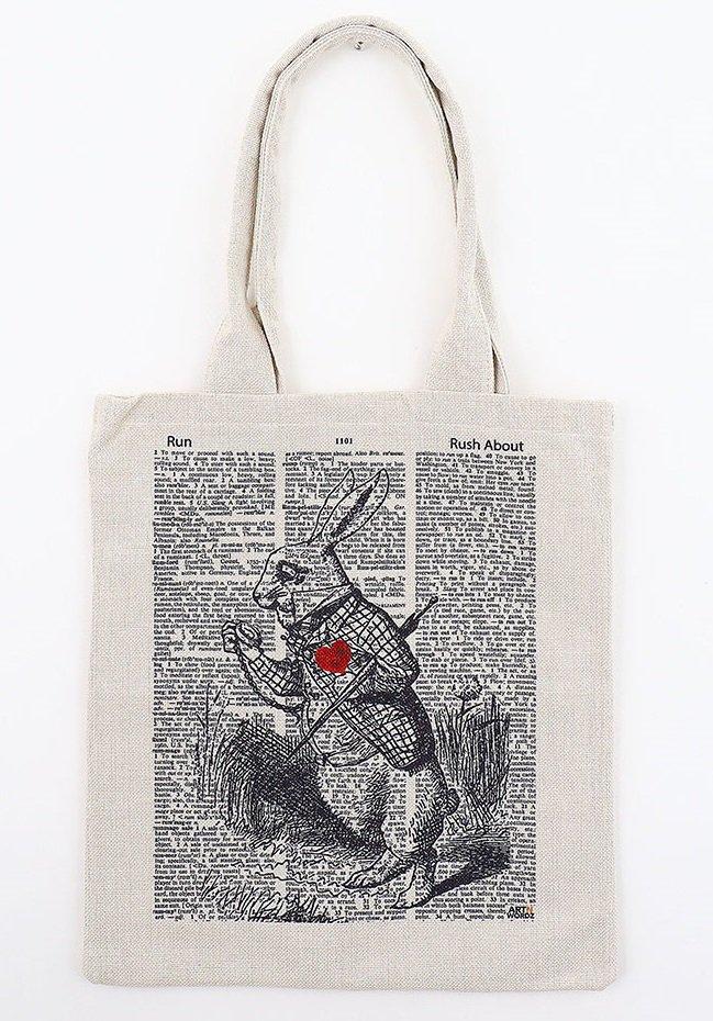 トートバックL(Alice Rabbit)
