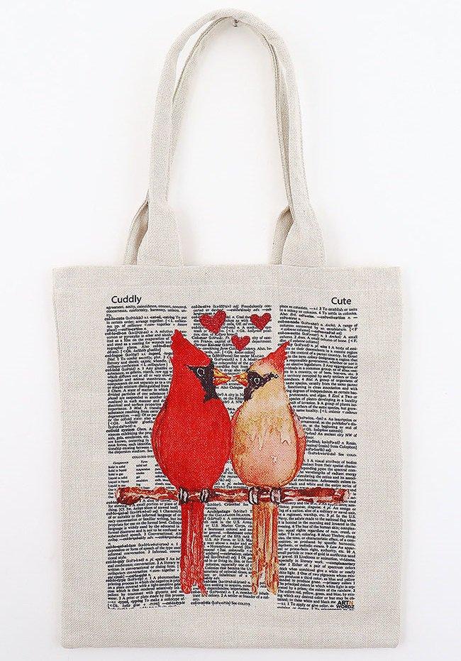トートバックL(LOVEBIRDS)