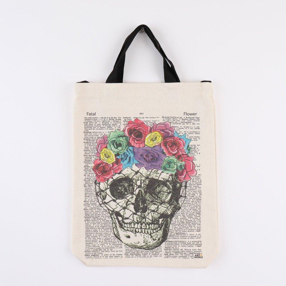 トートバッグM (Flower Skull)