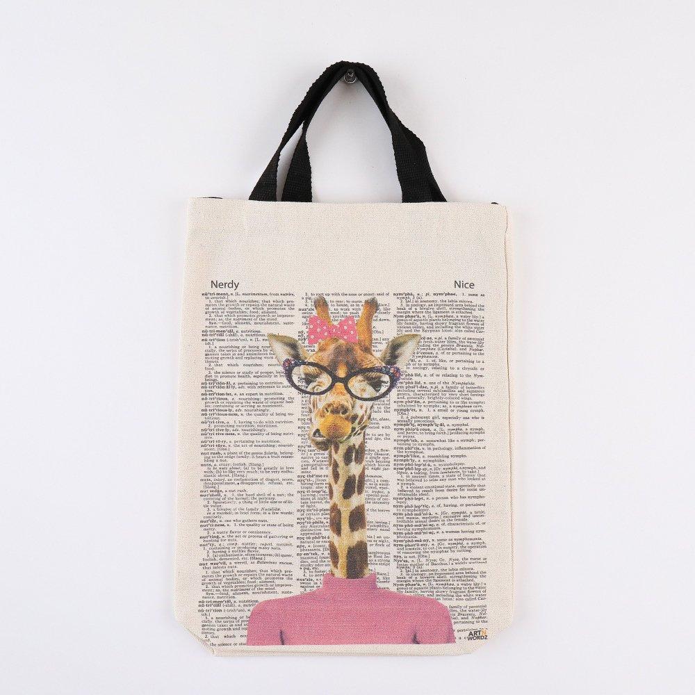 トートバッグM (Pinky Female Giraffe)
