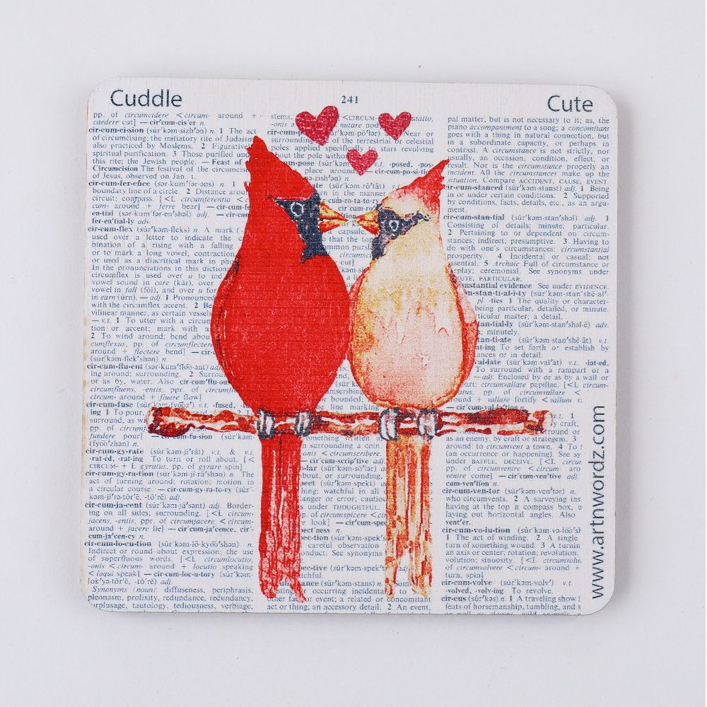 <img class='new_mark_img1' src='https://img.shop-pro.jp/img/new/icons1.gif' style='border:none;display:inline;margin:0px;padding:0px;width:auto;' />コースター(LOVEBIRDS)