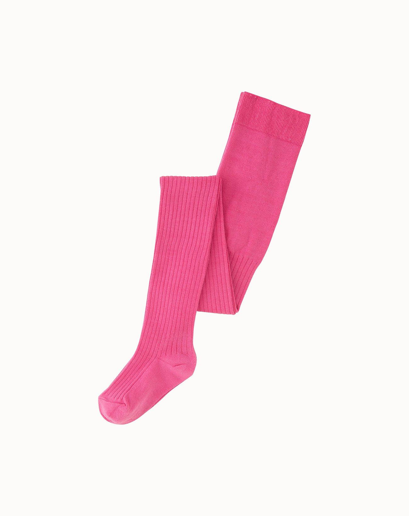 leur logette - Silk Rib Tights - Pink
