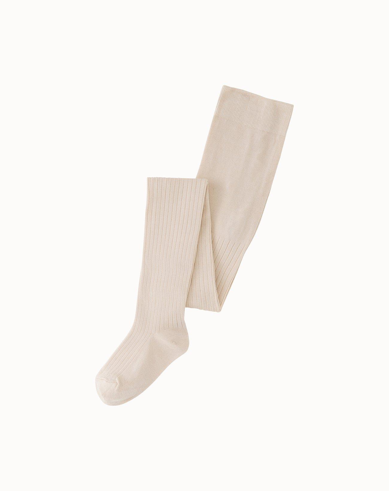 leur logette - Silk Rib Tights - Off White