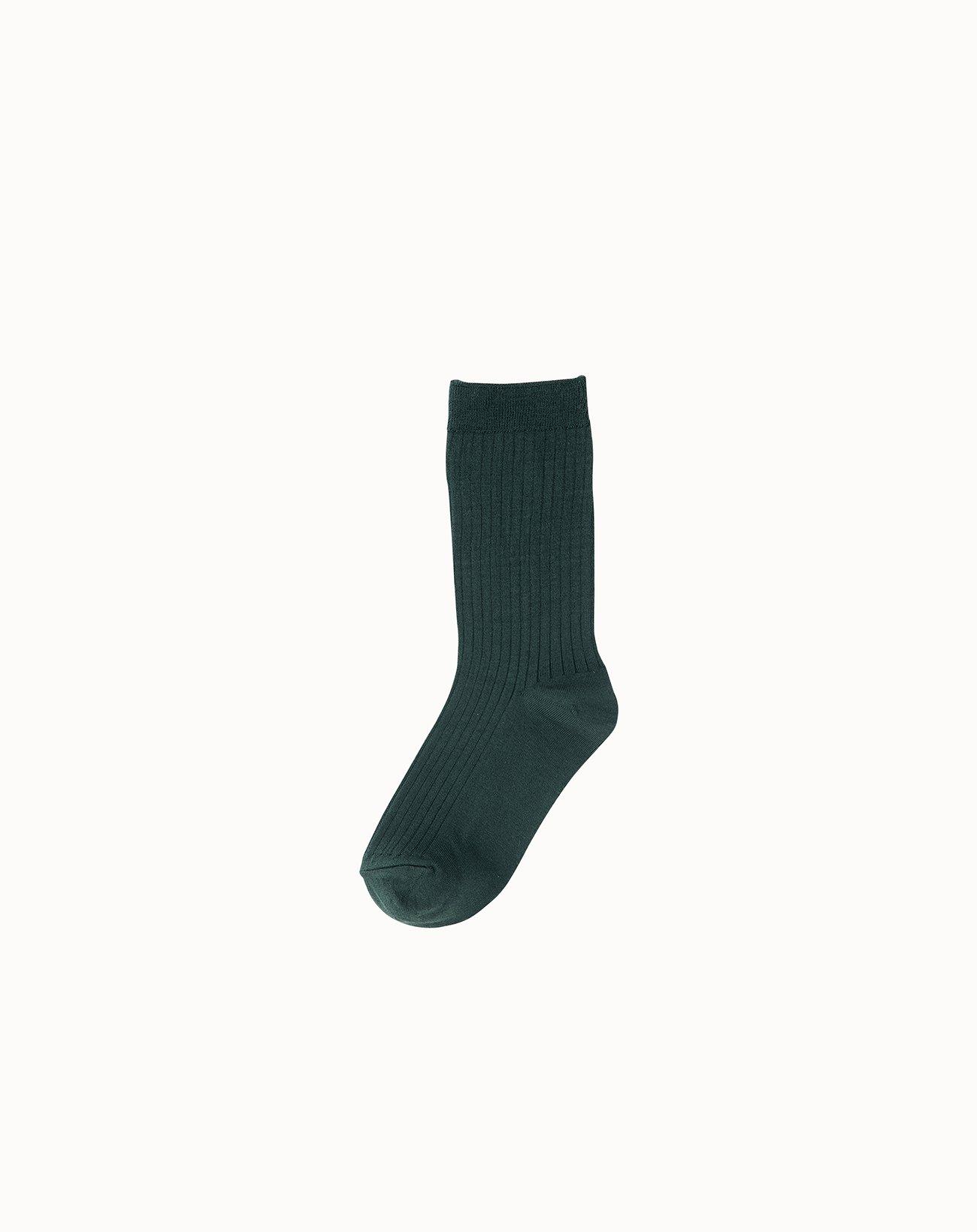 leur logette - Silk Rib Socks - Green