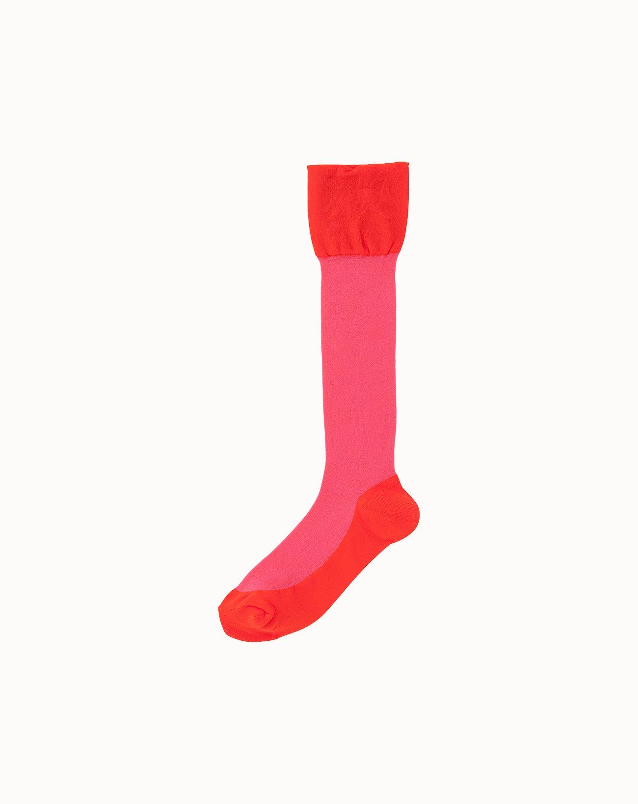 leur logette - Sheer Pattern Socks-Pink