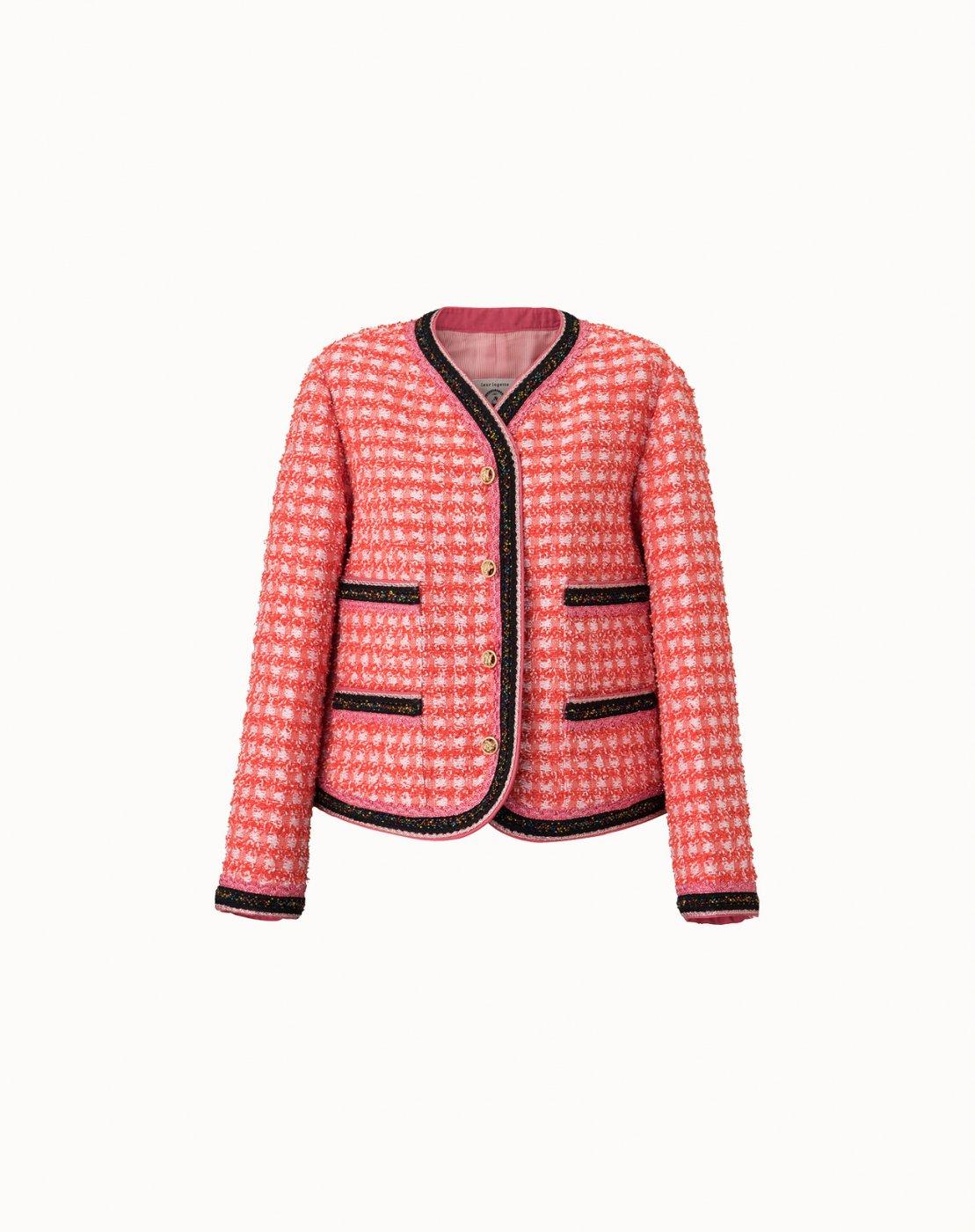 leur logette - Apricot Tweed Jacket - Red