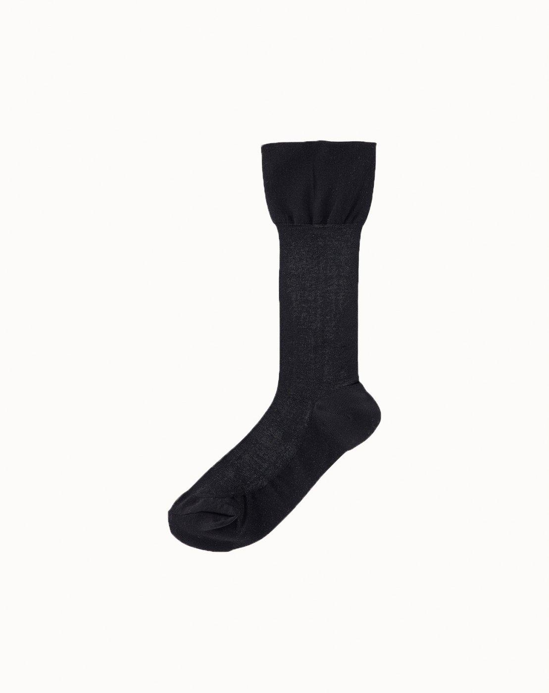 leur logette - Sheer Pattern Socks-Black