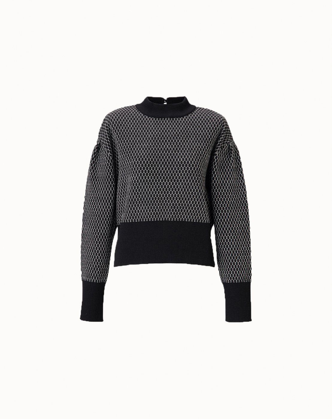 leur logette - Wool Jacquard Top - Black