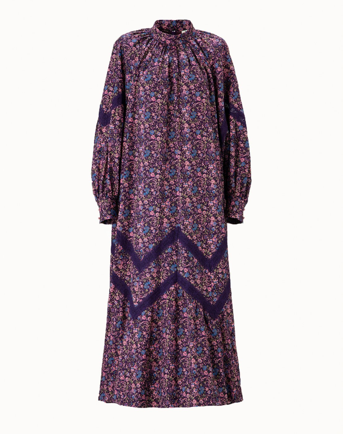 leur logette - Cotton Printed Dress 【Limited Edition】- Grape