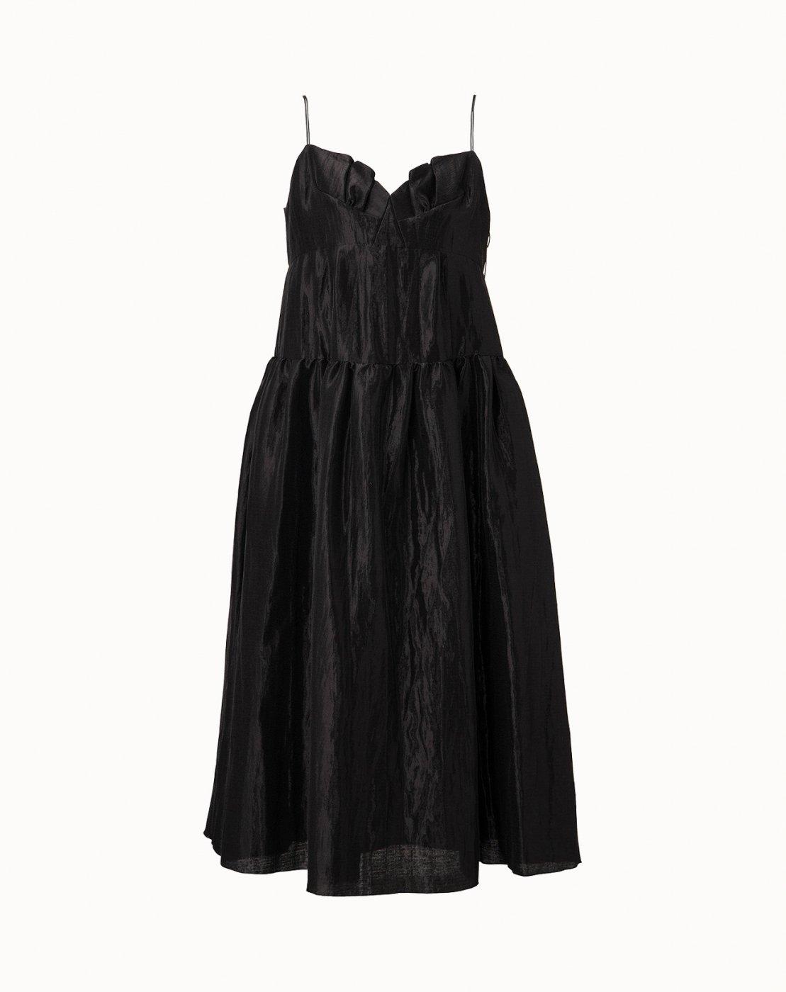 leur logette - Pearl Cloth Dress - Black