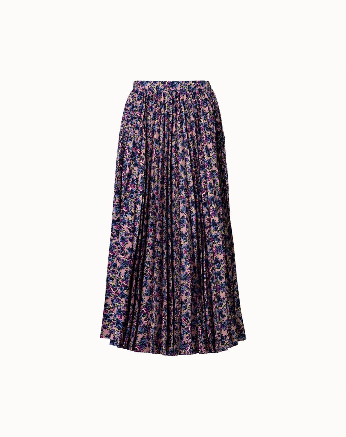leur logette - Venus Flower Cotton Pleats Skirt - Pink