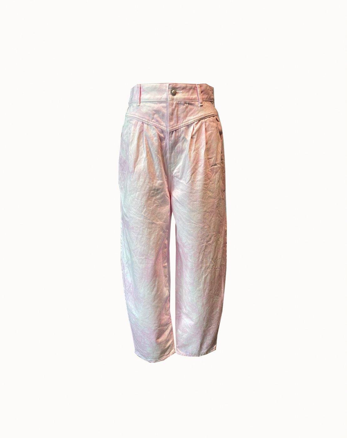 leur logette - 【Maison leur logette】 12oz Pink Denim Pants - Light Pink