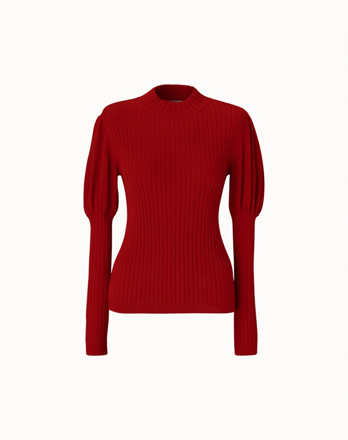 leur logette - Cashmere Silk Rib Top - Red