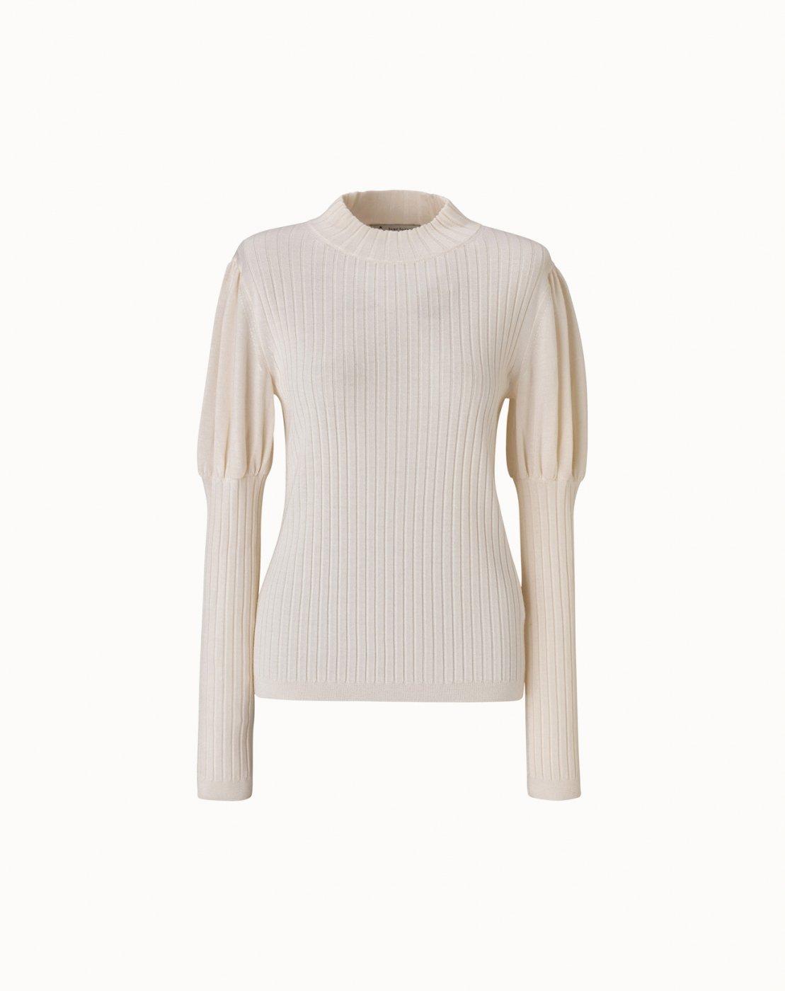 leur logette - Cashmere Silk Rib Top - Off White