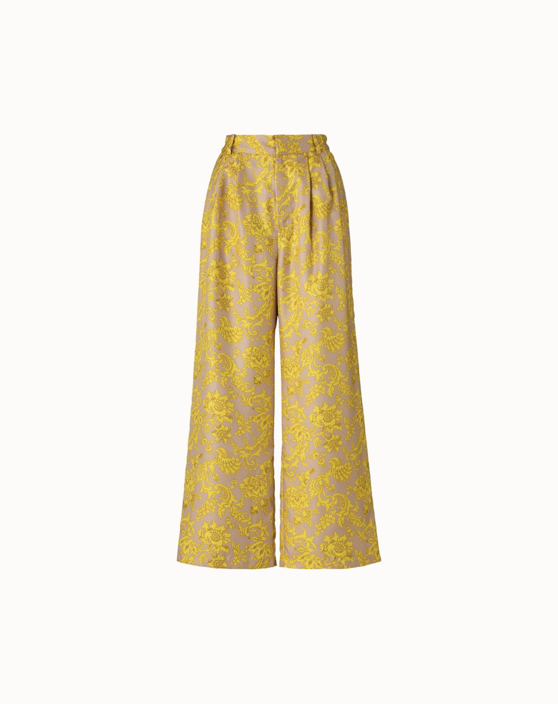 leur logette - Wallpaper Print Pants - Yellow