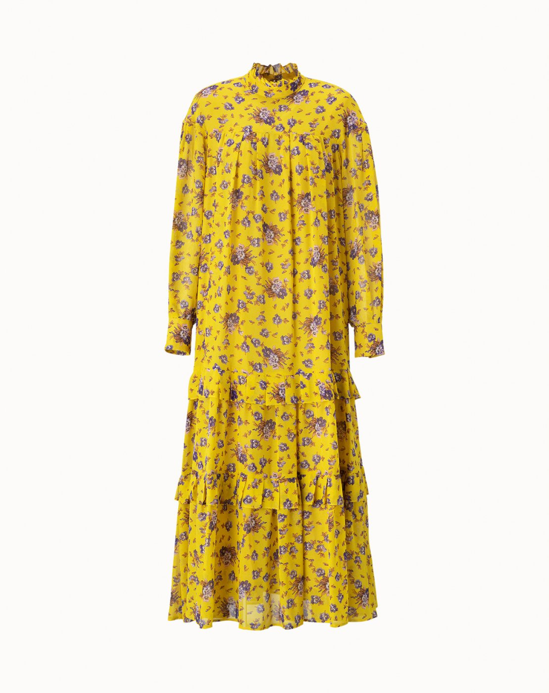 leur logette - <img class='new_mark_img1' src='https://img.shop-pro.jp/img/new/icons47.gif' style='border:none;display:inline;margin:0px;padding:0px;width:auto;' />Motif Flower Dress - Yellow