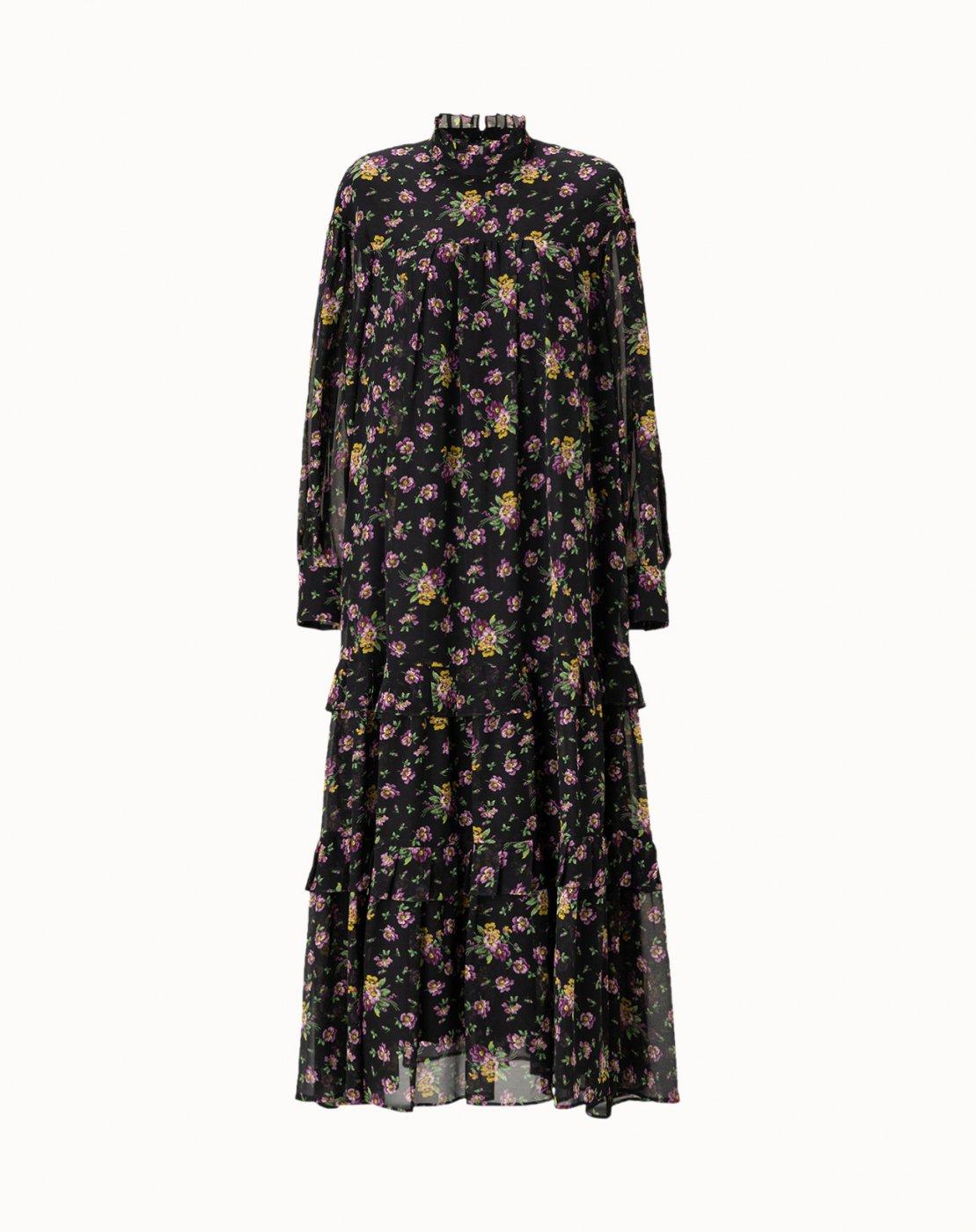 leur logette - Motif Flower Dress - Black