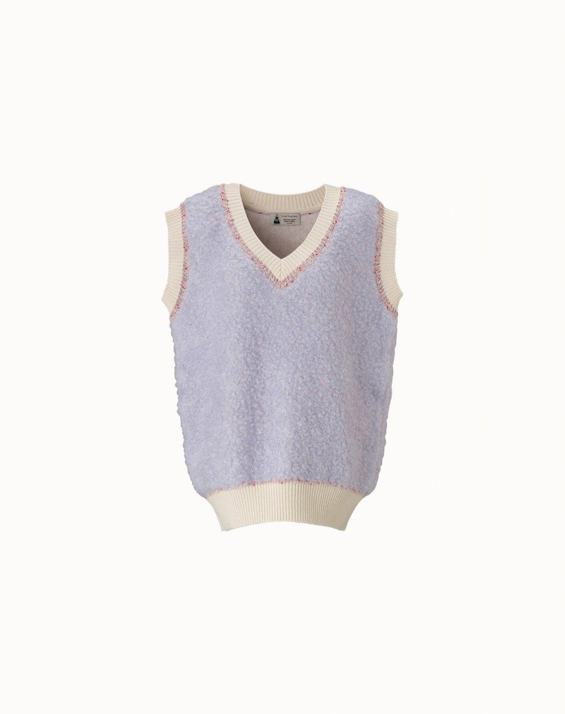 leur logette - <img class='new_mark_img1' src='https://img.shop-pro.jp/img/new/icons47.gif' style='border:none;display:inline;margin:0px;padding:0px;width:auto;' />【Maison leur logette】Mohair Nylon Vest - Lavender