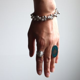 <img class='new_mark_img1' src='https://img.shop-pro.jp/img/new/icons8.gif' style='border:none;display:inline;margin:0px;padding:0px;width:auto;' />【vintage jewelry】Hemp Motif Ring / Mexico