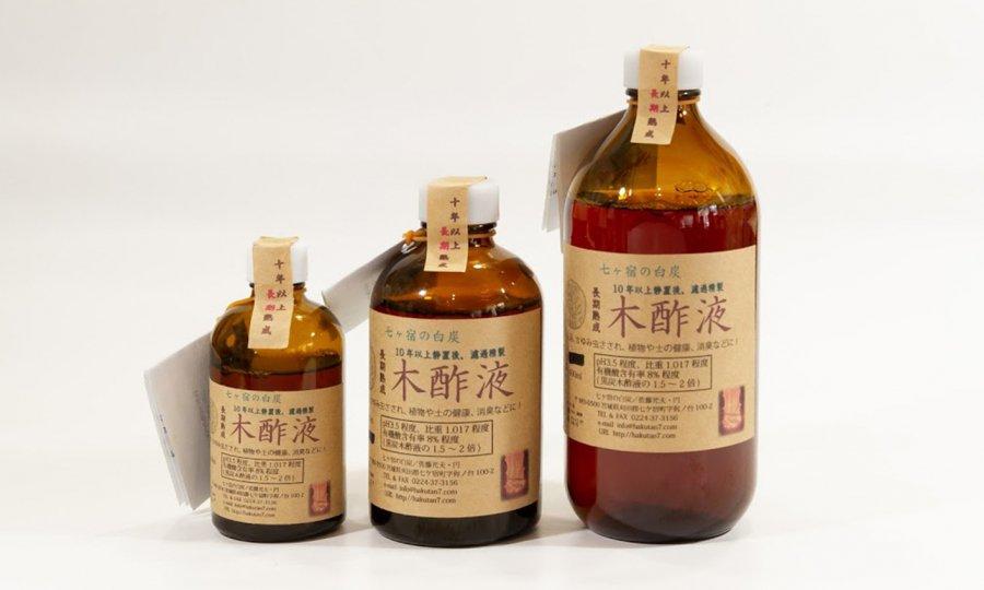 長期熟成木酢液100ml瓶入 虫除け・野菜の病虫害防除