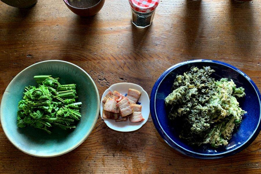 山菜お一人様セット・2~3種類おまかせ