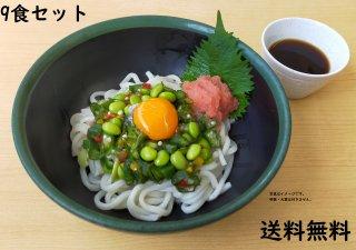 <img class='new_mark_img1' src='https://img.shop-pro.jp/img/new/icons1.gif' style='border:none;display:inline;margin:0px;padding:0px;width:auto;' />【送料無料】明太と夏野菜のぶっかけうどん【9食セット】