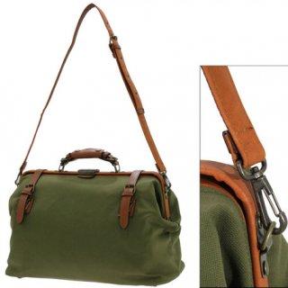 帆布ダレスボストン大 本革付属 鞄の聖地兵庫県豊岡市製 日本製トラベルバッグ
