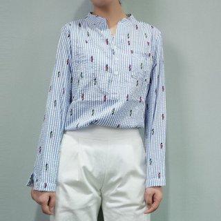プリントストライプカットシャツ