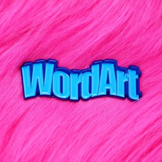 Wavy Blue WordArt Pin / Studio Cult