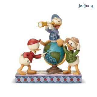 【JIM SHORE】ディズニートラディション:Huey Dewey & Louie Duck Tales