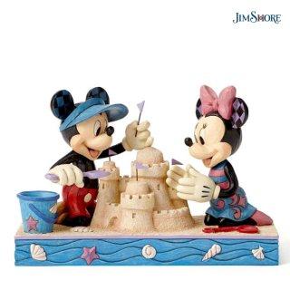 【JIM SHORE】ディズニートラディション:ミッキー&ミニー シーサイド