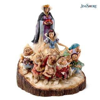 再入荷予約商品【JIM SHORE】ディズニートラディション:白雪姫&女王&七人のこびと
