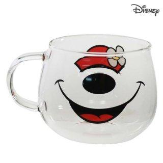 三郷陶器 ディズニー 耐熱ガラスマウスマグ:ミニーマウス