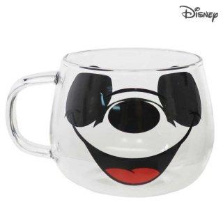 三郷陶器 ディズニー 耐熱ガラスマウスマグ:ミッキーマウス