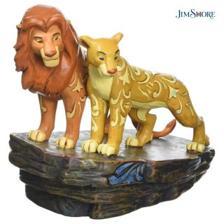 【JIM SHORE】ディズニートラディション:ライオンキング シンバとナラ【訳あり】