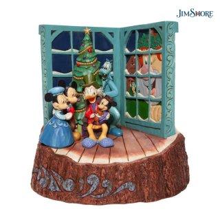 【JIM SHORE】ディズニートラディション:ミッキー クリスマスキャロル