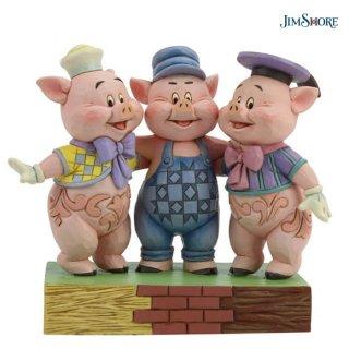 【JIM SHORE】ディズニートラディション:三匹の子ぶた