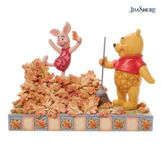 予約商品【JIM SHORE】ディズニートラディション:Pooh and Piglet Fall