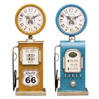 <img class='new_mark_img1' src='https://img.shop-pro.jp/img/new/icons24.gif' style='border:none;display:inline;margin:0px;padding:0px;width:auto;' />【在庫処分価格】【Vintage Goods】ビンテージシリーズ:テーブルクロック ガスポンプ「置時計」
