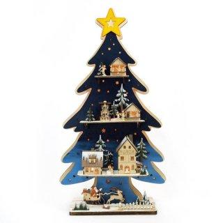 予約商品 クリスマス商品:ウッドライトツリー
