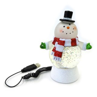 【予約商品】 クリスマス商品:USBウォーターグローブスノーマン