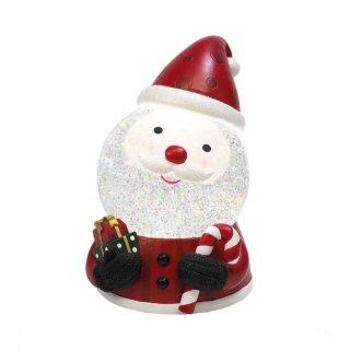 【予約商品】 クリスマス商品:LEDスノードーム サンタ ステッキ