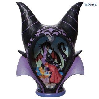 予約商品【JIM SHORE】ディズニートラディション:Maleficent Headdress Scene